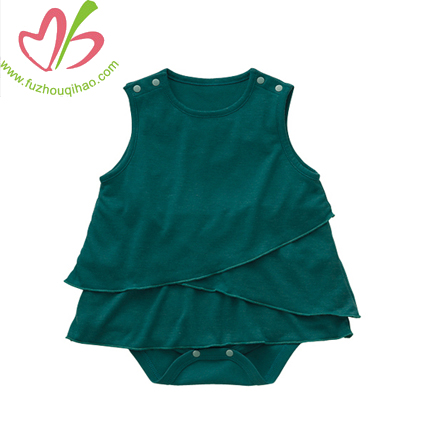 Multi Ruffled Infant Romper