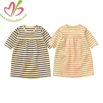 Stripe Little Baby One Piece Dress