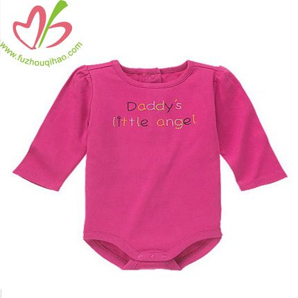 hot pink baby long sleeve onesies