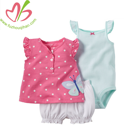 cute printed baby three pcs sets