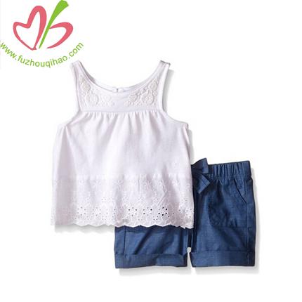cute and comfortable baby denim sest