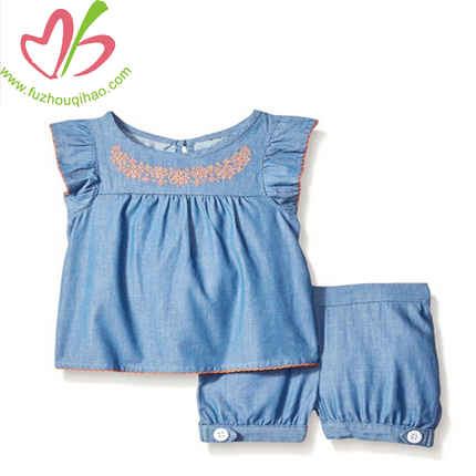 cute baby denim sets