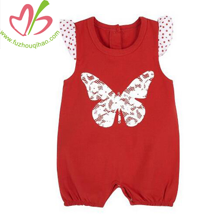 summer baby romper with printing