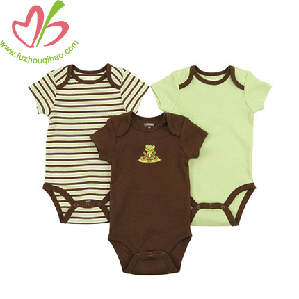 cute stripes contrast color baby onesie, baby boy romper, baby clothes
