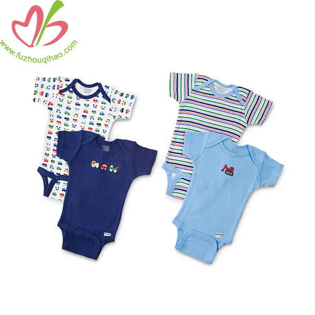 baby romper with printing, stripes baby onesie, colorfull baby boy designs