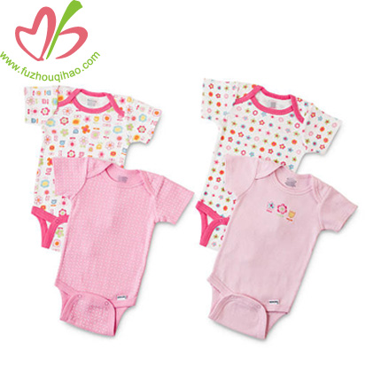 four pieces baby girl clothes sets for summer