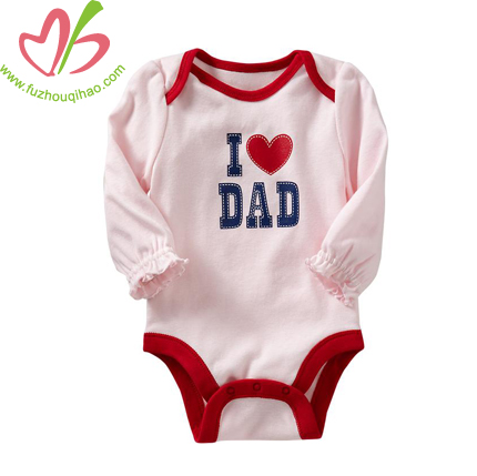 Long sleeve baby wear cute baby romper