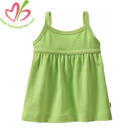 Green Girl Pinafore Dress Skirt