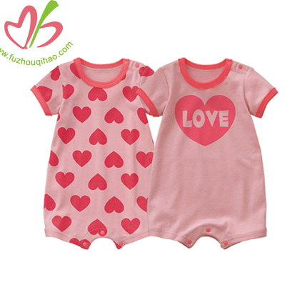 Love Heart Baby Bodysuits