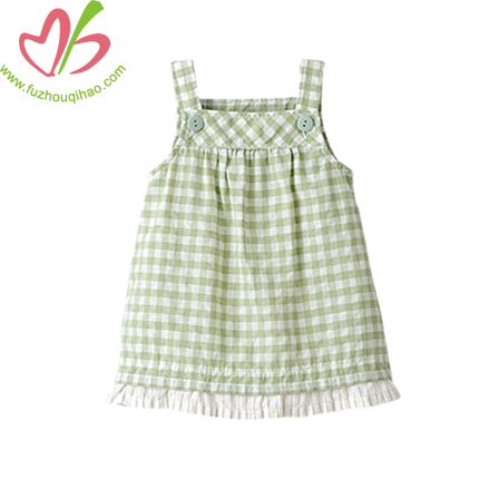 Lime Girl Grid Dress Skirt