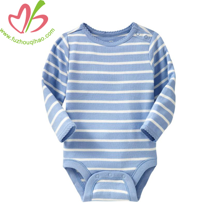 Stripe Long Sleeve Baby Bubble