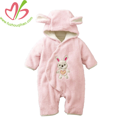 cute baby fleece jumpsuit