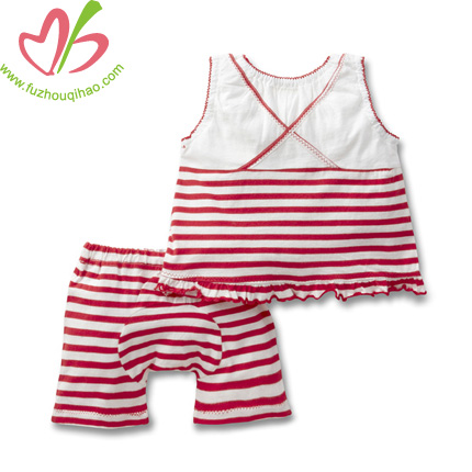 comfortable stripe baby set