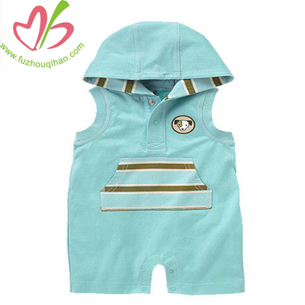 comfortable cotton baby shortall