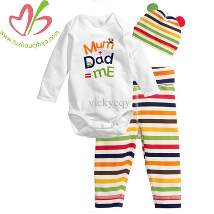 cotton newborn 3pc set