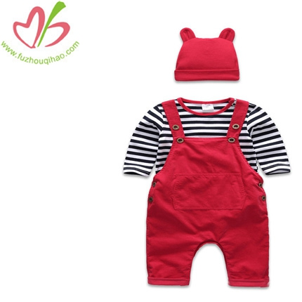 3pcs cute baby overalls bubbles&cute hat