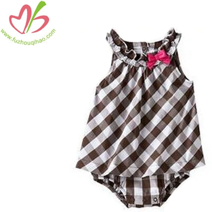 100%Cotton Gingham Bodysuits