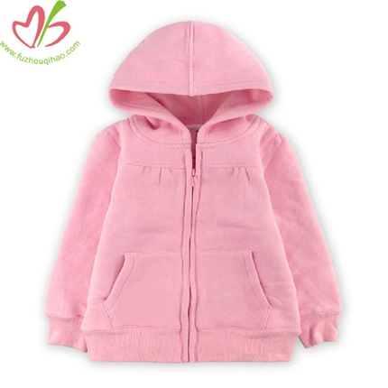 Pink Children Zipper Hoody