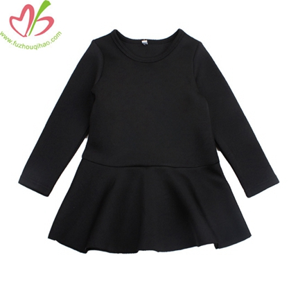 Black Kids Dress with Long Sleeves