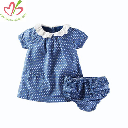 Cute Dotted Baby Blouse with Bloomer