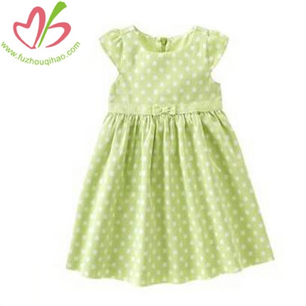 Girl's Summer Polka Dots Dress
