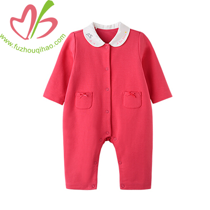 Long Sleeve Baby Girl's Jumpsuit