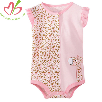 Leopard Print Pink Baby Romper