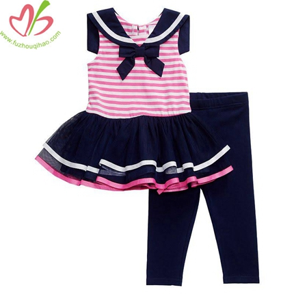 Sailor Shirt Dress with Legging