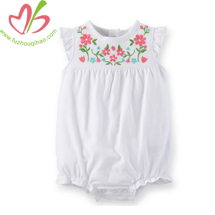 Embroidery Baby Flutter Sleeve Bubbles
