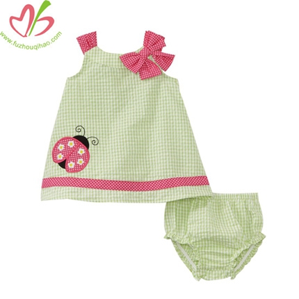 Green Pillowcase Dress with Bloomer