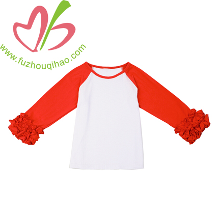 Girls Raglan Tee with Icing Sleeve