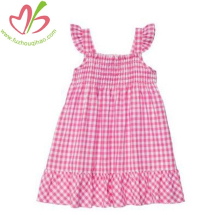 Pink Gingham Baby Girl's Dress