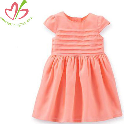 High Quality Children Solid Color Dress