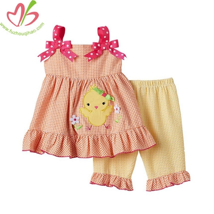 Orange Chick Kids Clothing Set