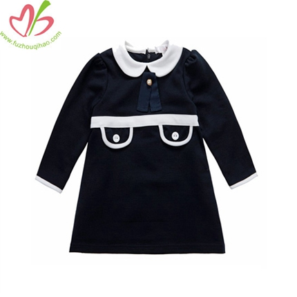 Navy Princess Dress for Girls