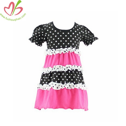 Pink and Black Girl's Tunic Top