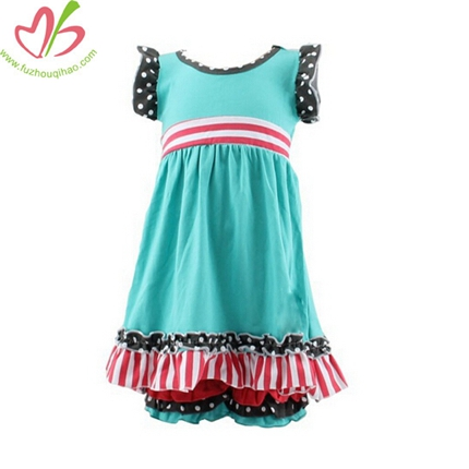 New Arrival Girls Short Ruffle Pants Wholesale Suits