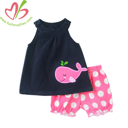 Boutique Kids Clothing Set with Applique