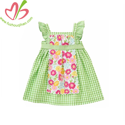 Plaid Children Girl's Frock Dress