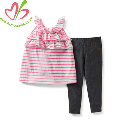 Summer Stripe Girl's Legging Set