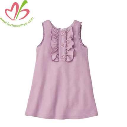 Girls' Ruffle Vest Summer Dress Causal Design