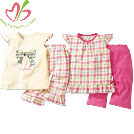 Baby Girl Adorable Sets Gingham Print with Pant