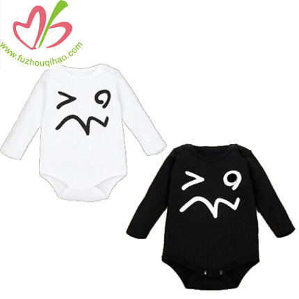 Newborn Wear Baby Romper Face Print