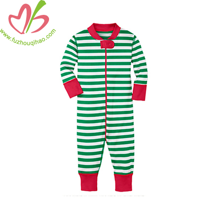 Christmas Color Toddler Infant Jumpsuit With Zipper