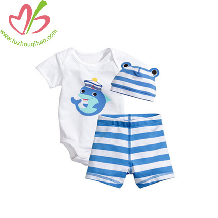 3pcs Baby Clothing Set with Applique