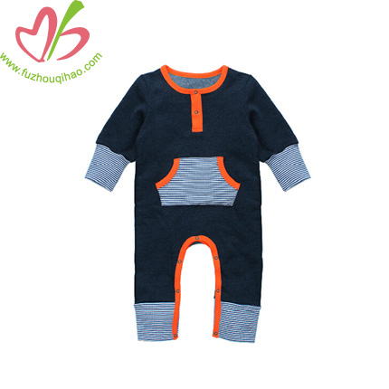 Baby Boy's Jumper Suit-Navy Blue