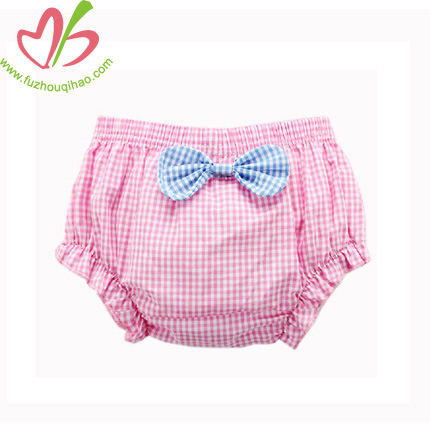 Gingham Baby Bloomer Shorts-blue,red,pink
