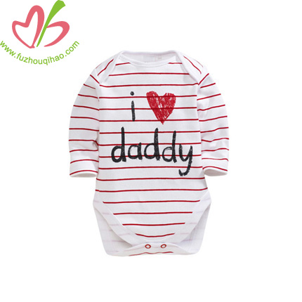 I Love Mommy/Daddy Printed Baby Overalls
