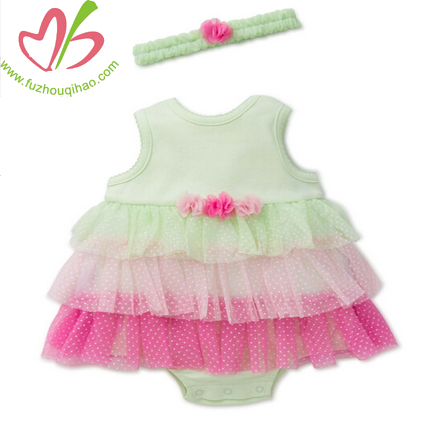 Colorful Baby Lace Romper Shorts with Headband