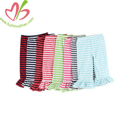 Stripe Kids Ruffles Pants for Girls